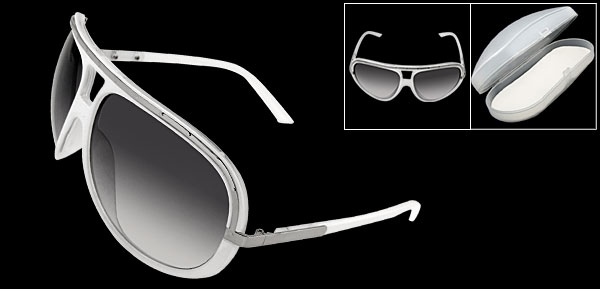 Clement White Frame Fashion Eyewear Lady Sunglasses