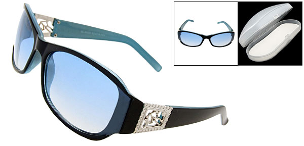 Hallo Black Frame Fashion Eyewear Sunglasses