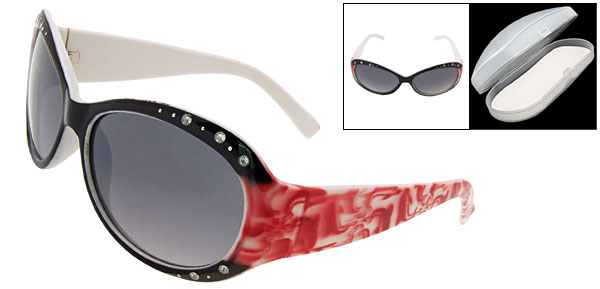 Crystalline Black Fashion Eyewear Lady Sunglasses