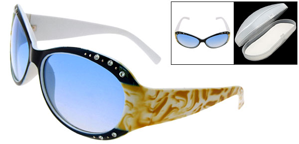Crystalline Blue Fashion Eyewear Lady Sunglasses