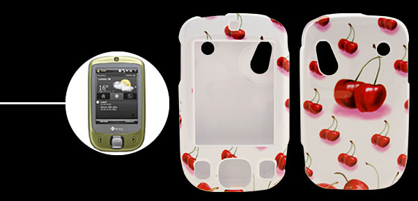 Deluxe Cherry Plastic Hard Case Holder for HTC-TOUCH