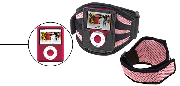 Black with Pink Armband for iPod Nano 3G