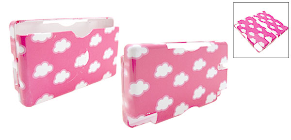 New Cloud Pattern Nintendo DS Lite Hard Plastic Cover Case Peachblow