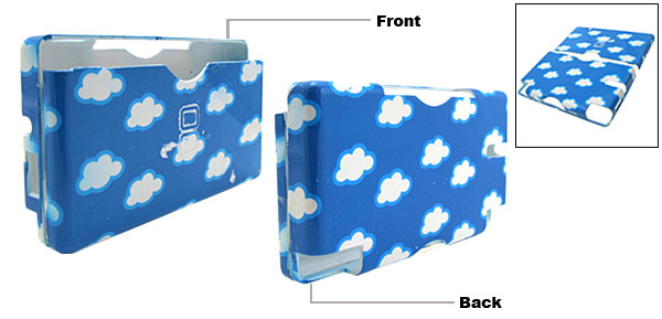 New Cloud Pattern Nintendo DS Lite Hard Plastic Cover Case Blue