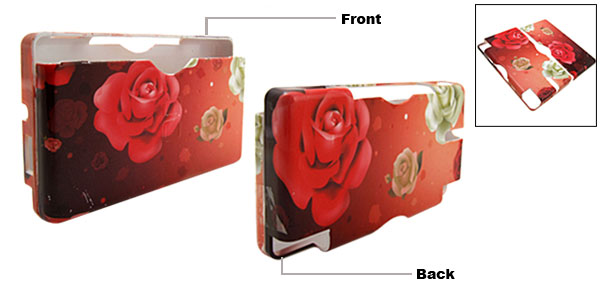 New Clorful Rose Pattern Hard Plastic Cover Case for Nintendo DS Lite