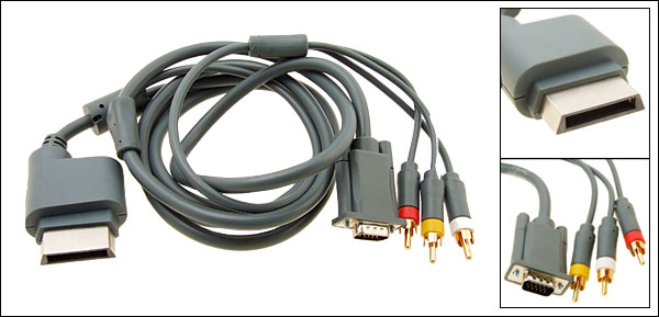 XBOX 360 RCA VGA HD AV HDTV Cable for Xbox360