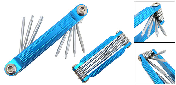 New 7 in 1 Folding Star Torx Key Screwdriver Hand Tools