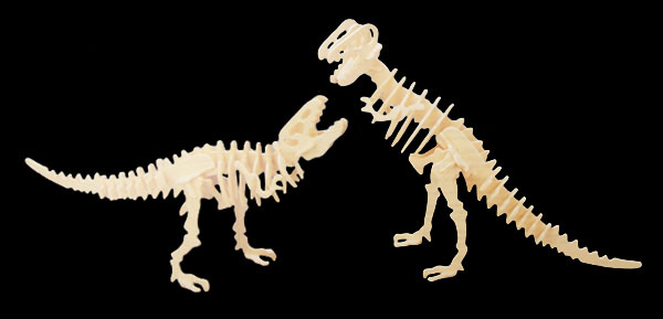 2 in 1 Tyrannosaurus Dinosaur Woodcraft Construction Kit Model Puzzle