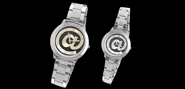 Fashion Jewelry Round Metal Couple Watch Silver