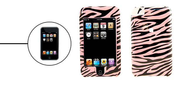 Plastic Hard Case Cover for Apple iPod Touch Stripe 1st Generation