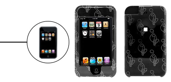 Plastic Hard Case Cover for Apple iPod Touch Black 1st Generation