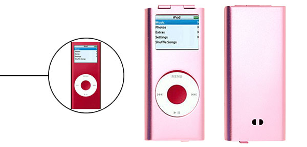 Pink Aluminum Hard Case for iPod Nano 2nd Generation 2G
