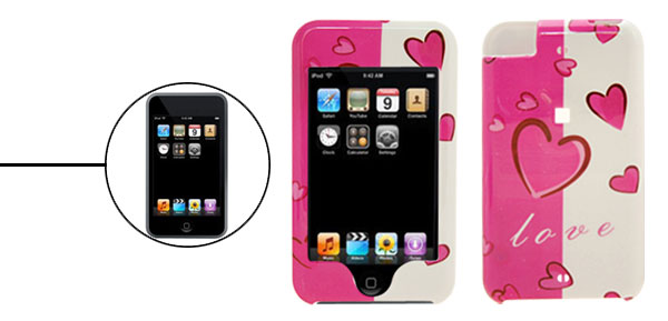 Plastic Hard Case Cover for Apple iPod Touch Heart 1st Generation