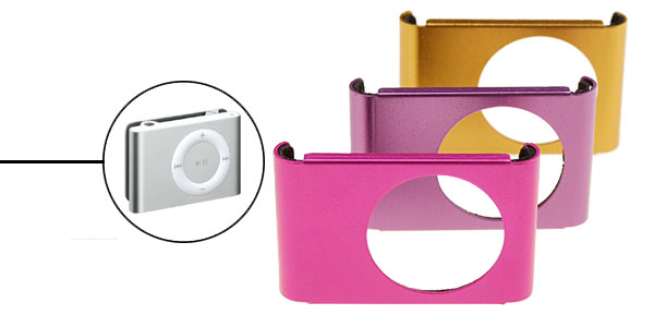 3 Colors Aluminum Protector Hard Case for iPod Shuffle 2G