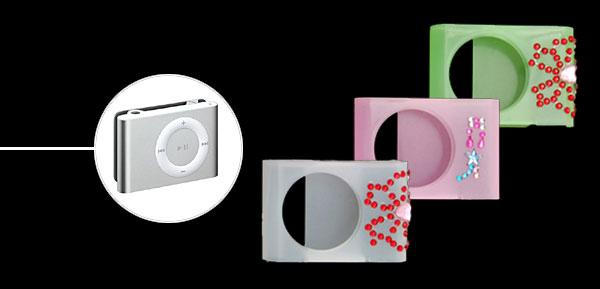 Ladylike Crystal Hard Plastic Skin Case for iPod Shuffle 2G