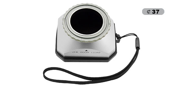 37mm Video Silvery Lens Hood Cover + Cap for Canon Comcorder