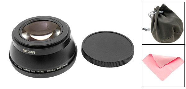 55mm Pro Digital Wide-Lens with Macro 0.45X Video Converter Lens