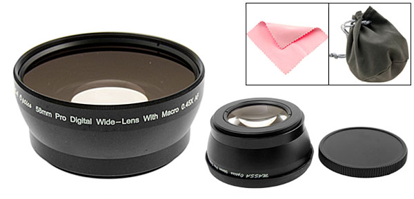 58mm Pro Digital Wide-Lens with Macro 0.45X Video Converter Lens