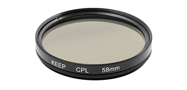 Black Keep 58mm Camera CPL Circular Polarizer Filter