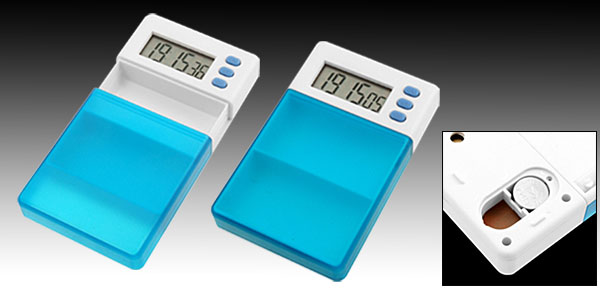 Nolvelty Time Alarm Clock Doctor Pill Box Medicine Holder Case
