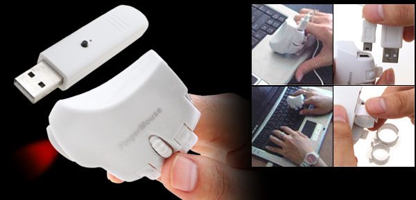 Wireless Optical 3D Computer Finger Mouse