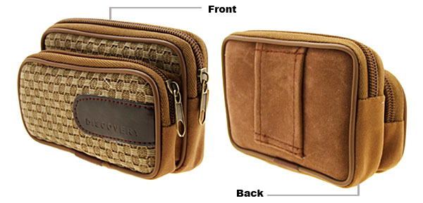 Fashion Nut-Brown Leather Case for iPhone iPod MP3 Cell Phone