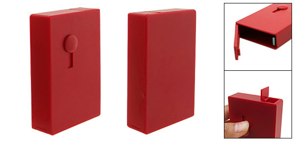 Red Automatic Sliding Cigarette Box Holder