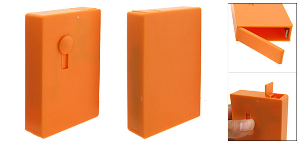 Orange Automatic Sliding Cigarette Case Box Holder