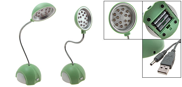 Pea Green 15 LED Lights USB Table Lamp Light (HK-L3020)