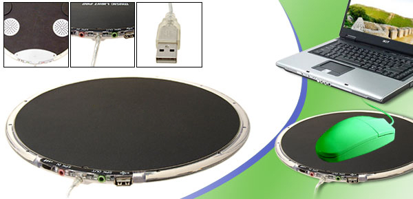 Music Mouse Pad + Speakers + USB Hub + Microphone
