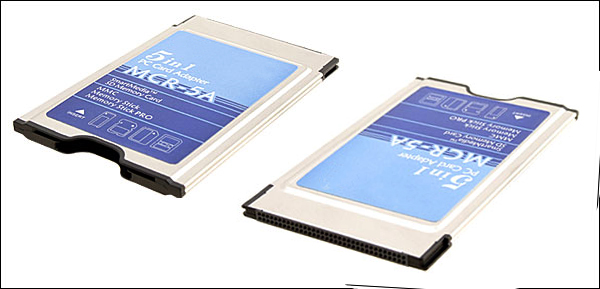 PCMCIA 5 in 1 Type II PC Card Adapter