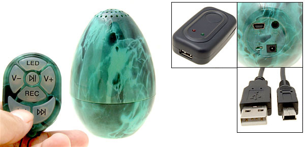 1GB Mp3 Player and Egg Shaped Speaker with Remote Control