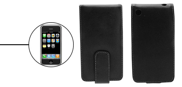 Magnetic Leather Case Holder for Apple iPhone 1st Generation Black