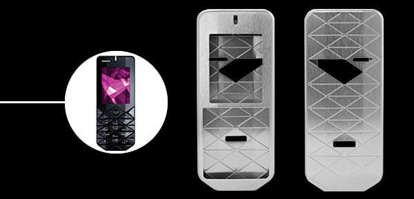 New Luxury Silver Aluminum Metal Case Cover for Nokia 7500