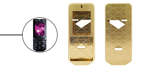 New Luxury Golden Aluminium Metal Case Cover for Nokia 7500