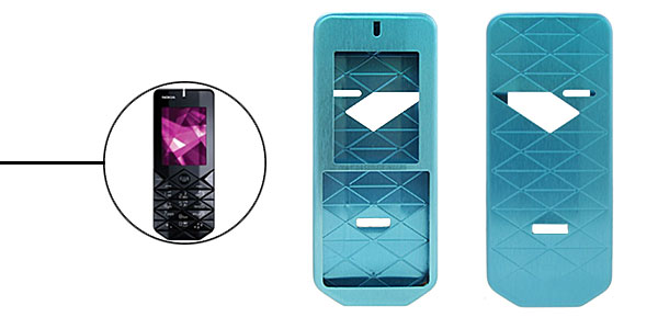 New Luxury Blue Aluminium Metal Case Cover for Nokia 7500