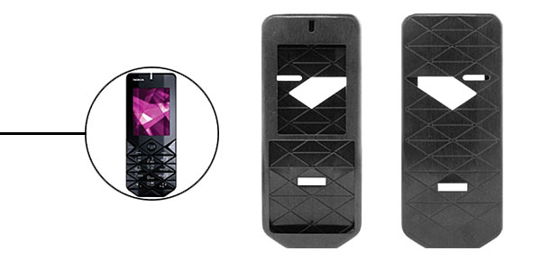 New Luxury Black Aluminium Metal Case Cover for Nokia 7500