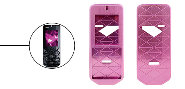 New Luxury Rosered Aluminium Metal Case Cover for Nokia 7500