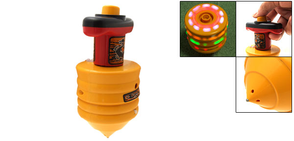Funny Toy Colorful Flash Light Spinner Plastic Peg-Top