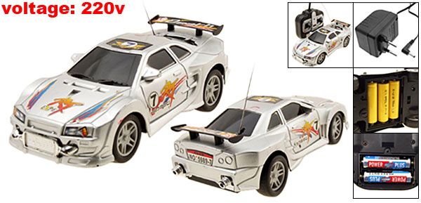 Toy Remote Control Racing Car Racer Automobile Silver