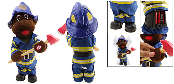 Cute Gift Hip Hop Singing and Dancing Fireman Toy