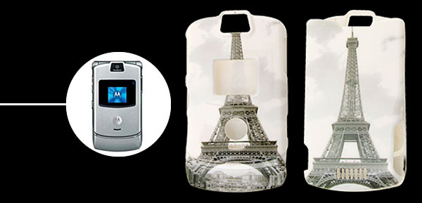 Eiffel Tower Plastic Protector Hard Case for Motorola V3
