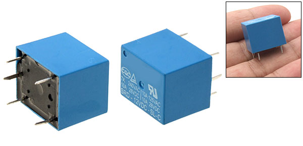 SRD-12VDC-SL-C SONGLE DC 12V SPDT 5 Pin Power Relay Blue