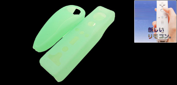 Cool Silicone Skin Case for Nintendo Wii Controllers Green
