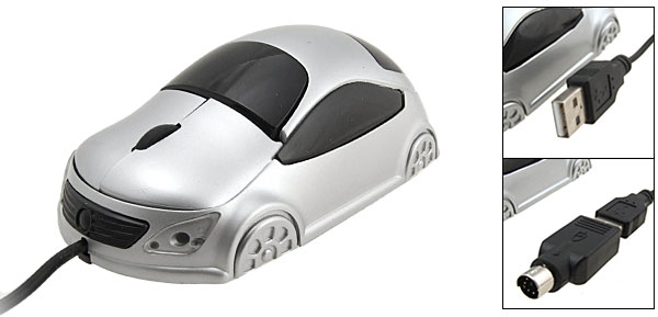 Car USB PS/2 Optical Computer Mouse for Notebook PC