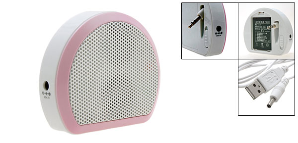 Mini White D Sound Box Speakers for MP3 MP4 Notebook