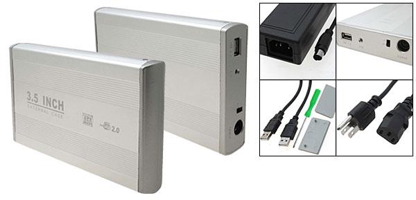 Silvery USB 2.0 3.5