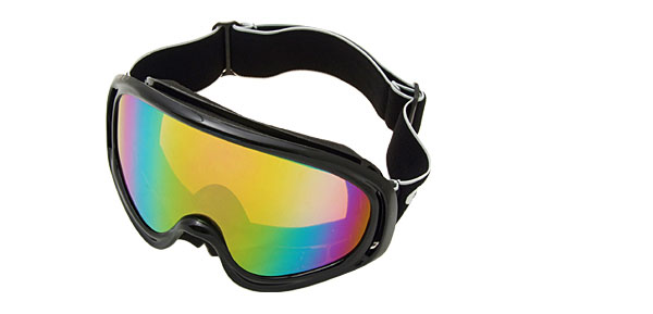 Ski Snowboard Sports Glasses Goggles Color Coated Lens Black Frame