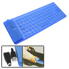 Blue Mini Flexible Silicon Notebook Computer Keyboard