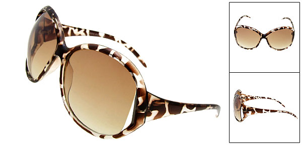 New Stylish Elegant Men And Ladies Fashion Brown Sunglasses